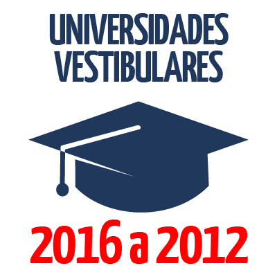 Universidades Vestibulares - 2016 a 2012